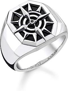 THOMAS SABO 中性戒指罗盘黑色 925 纯银,镀黑TR2274-641-11