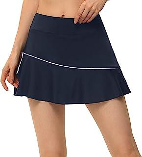 带口袋的女士高尔夫短裙,网球裙带内置短裤