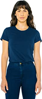 American Apparel 女式 Power Wash 修身短袖 T 恤