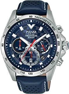 PULSAR 男士指针式石英手表真皮表带PZ5107X1