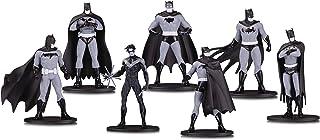 DC 收藏版蝙蝠侠黑白迷你人物,7 个装盒装一套