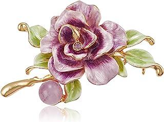 VENDOME BOUTIQUE 玫瑰 蔷薇 紫水晶 施华洛世奇 水晶 胸针 VBRV0314 AM