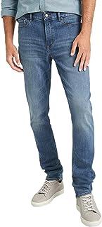 Banana Republic 男式 603394 修身弹力棉质牛仔裤中号蓝色