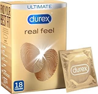 Durex 杜蕾斯 Real Feel 避孕套,18 件装(包装可能有所不同)