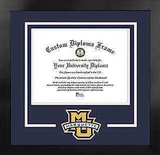 Campus Images NCAA 马凯特金鹰男女通用精神文凭曼哈顿黑框附赠平版版画,黑色,均码