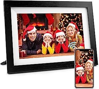 Henscoqi 10.1 英寸 WiFi 数码相框,带 IPS 高清显示屏 1280x800,16 GB 存储智能数字相框,宽屏分享图片和视频,触摸屏数字相框作为礼物