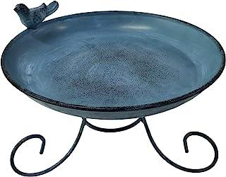 Dehner Natura Namib 野鸟鸟浴盆,直径 21.5 厘米,高 15.5 厘米,金属色,深蓝色