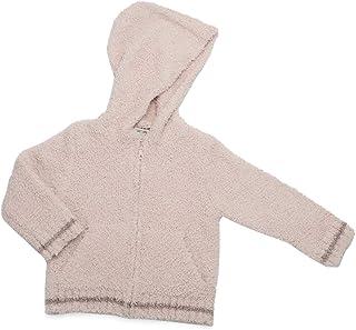 Barefoot Dreams CozyChic 儿童拉链连帽衫,保暖针织连帽运动衫
