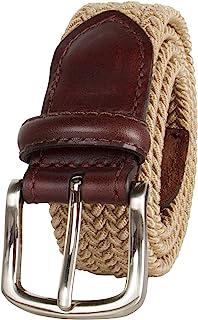 Dockers 男士大男孩弹性网状编织伸展腰带