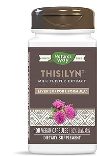 Nature's Way - Thisilyn规范化了牛奶蓟萃取物 - 100 素食胶囊