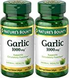 Nature's Bounty Garlic Extract 1000 mg Softgels 100 ea (Pack…