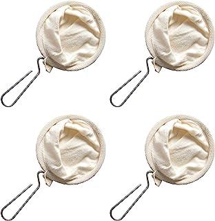 4 件套咖啡过滤器,法兰绒布咖啡过滤器,带钢手柄,可重复使用的法兰绒咖啡滴滤器,咖啡袜过滤袋咖啡布过滤器 适用于家庭办公室厨房
