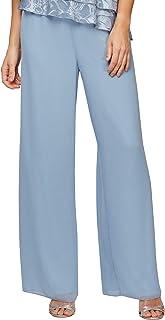 Alex Evenings 女式阔腿正装长裤(小号常规加大尺码)