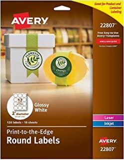 Avery astrobrights 颜色 EASY PEEL 圆形标签