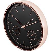 Maclean 静音石英挂钟带湿度计和温度计 - Ø 30cm 12 金色 - CE70 G