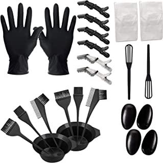 *剂套装 24 件 DIY *刷和碗套装,带混合勺耳套,手套染工具