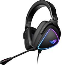 ASUS 华硕 ROG Delta S 游戏耳机,带 USB-C   Ai 供电降噪麦克风   头戴式耳机,适用于 PC、Mac、Nintendo Switch 和 Sony Playstation   人体工学设计