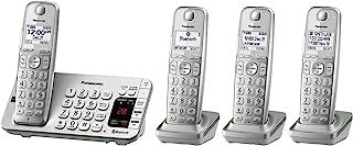松下 KX-TGE474S Link2Cell 蓝牙无线电话接听机 - 4 个手机套 四只手组 - KX-TGE474S 银色