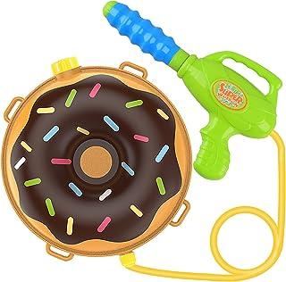 儿童背包水枪 喷水枪 带水箱 女士 Bug 儿童玩具 夏季户外玩具 泳池沙滩水玩具 儿童太空和火箭巧克力甜圈