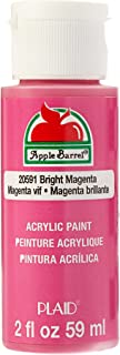 Apple Barrel 亚克力颜料多色可选(2 盎司),4471E,米色 明亮洋红色 2 盎司 JA20591
