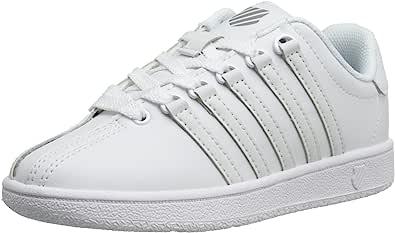 K-Swiss Classic Vintage PS Tennis Shoe (Little Kid),White/White,1 M US Little Kid