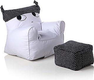 Swety Toys 12169 儿童扶手椅套装,带凳子,白色,带黑色帽子,室内/室外防水