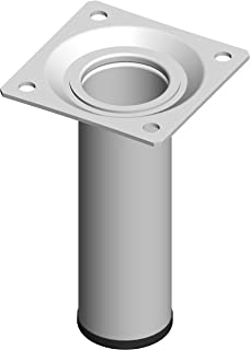 Element System 钢管脚圆桌腿,家具脚,包括旋入板 白色 10 cm 18133-00253
