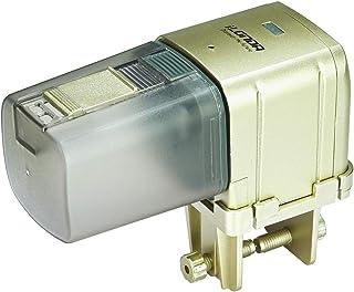 [*] WiFi 自动喂食器 带应用程序 Lychee 水族箱自动喂鱼器 WIFI 控制自动喂鱼器 适用于家庭办公室(金色)