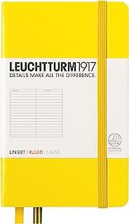 LEUCHTTURM1917 灯塔344794 口袋型横格笔记本黄色硬封皮(A6)柠檬黄