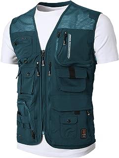 H2H 男士休闲防水多口袋户外活动工装露营背心