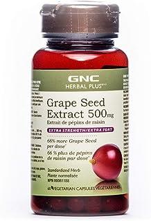 GNC 健安喜 Herbal Plus葡萄籽提取物 500毫克 - 加强版,60粒胶囊