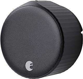 August Home Wi-Fi(第 4 代)智能锁 – 几分钟内适合您的现有门栓,哑光黑