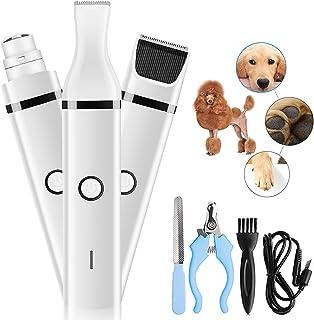 Dog Clippers 狗狗*研磨机多功能宠物*工具套装可充电无绳 2 档速度低噪音宠物毛发*和修剪器带不锈钢*剪和锉适用于狗、猫和其他宠物。