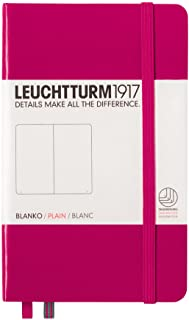 LEUCHTTURM1917 灯塔口袋型无格笔记本玫红硬封皮(A6)
