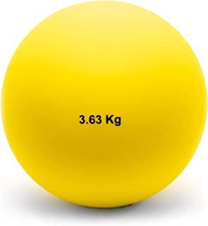 Crown Sporting Goods 3.63 千克(8 磅)室内投球球 - 室内田径和田径质量投球 适合室内练习和重量训练 男女