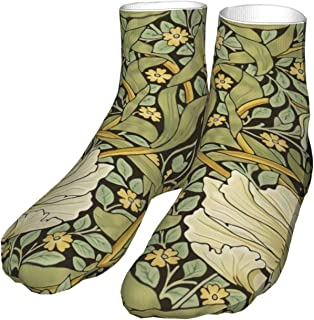 antcreptson William Morris 新艺术运动管状长袜 女式 男式 经典及膝袜 运动长袜 均码