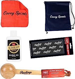 Covey 运动棒球垒球手套套装套装(套件带手套包装)