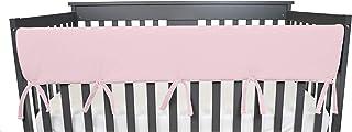 TL Care Supreme 1 件装天堂般柔软雪尼尔双面婴儿床宽保护罩,适用于正面,粉色和白色
