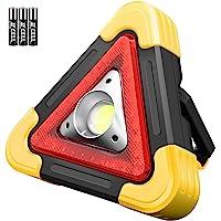 LED COB 工作灯,Ledeak 便携式三角形紧急危险警示灯,超亮,户外工作灯泛光灯,适用于露营、徒步、汽车维修车库…