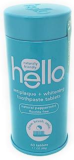 HELLO 防牙菌斑+*牙膏片,1.7 盎司(约 48.2 克)