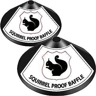 2 件包裹松鼠挡板 18 英寸和 12 英寸松鼠防溅板保护悬挂鸟类喂食器环绕松鼠挡板防锈镀锌钢
