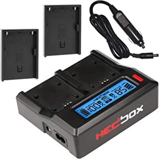 HEDBOX   RP-DC50/DBPU   双 LCD 智能电池充电器,兼容索尼 BP- U30/U60/U90 和 Hedbox HED-BP75D,HED-BP95D,RP-BPU80,RP-BP85D 摄像机电池