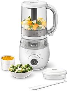 Philips 飞利浦 Avent 4合1婴儿食品机 SCF883/01,可蒸制和搅拌,4餐,白色