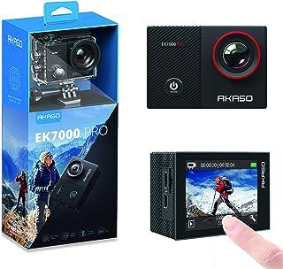 AKASO EK7000 Pro 4K 运动相机带触摸屏 EIS 可调节视角网络摄像机 40 米防水相机遥控运动相机带头盔配件套件