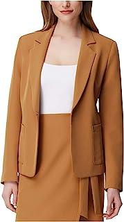 TAHARI 女式棕色西装外套上班夹克尺码 8