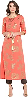 Janasya 女士粉色涤纶绉纱衬衫