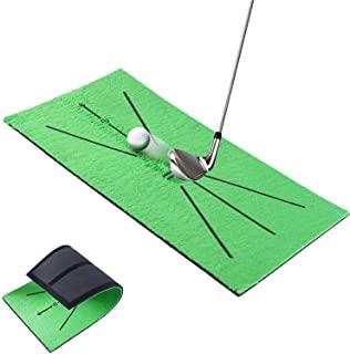 高尔夫训练垫,高尔夫挥杆训练垫迷你高尔夫练习训练辅助地毯,用于挥杆检测击球,适用于家庭办公室户外。
