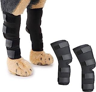 ROLLMOSS 2 件狗狗犬类后腿曲棍球关节支撑压缩包裹,适用于小型犬的狗狗护膝,强力狗腿支撑有助于防止受伤、**、*的稳定性