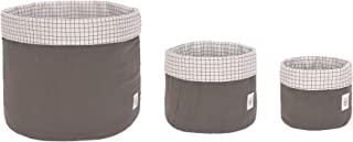 LÄSSIG 收纳篮套装 3 件 Muslin 生态棉 / 收纳篮套装 3 件 Muslin 煤黑色