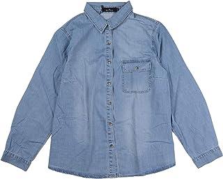 Agnes Orinda 女士加大码长袖胸袋条纹衬衫
